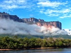 Auyantepuy from the Carrao river, in the haert of the Gran Sabana